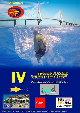 Unos 150 nadadores participar n en el iv trofeo m ster de for Piscina ciudad de cadiz