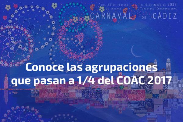 Fallo del jurado conoce las agrupaciones que pasan a for Cuartos de final carnaval 2017